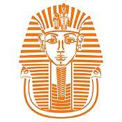 Vinilo Máscara Tutankamón Naranja 72x100cm