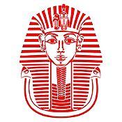 Vinilo Máscara Tutankamón Rojo 58x80cm