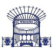 Vinilo Metro París Azul oscuro 120x100cm
