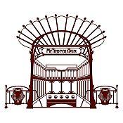 Vinilo Metro París Marrón