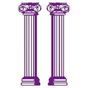 Vinilo Columnas estilo jónico Morado 140x30cm