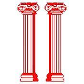 Vinilo Columnas estilo jónico Rojo 120x25cm