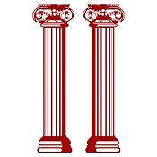 Vinilo Columnas estilo jónico Vinotinto 160x34cm