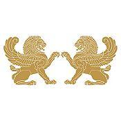 Vinilo Leones persas Dorado 116x50cm