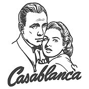 Vinilo Casablanca Gris Oscuro 70x79cm