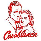 Vinilo Casablanca Rojo 70x79cm