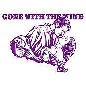 Vinilo Gone with the wind Morado 100x72cm