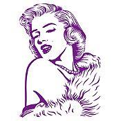 Vinilo Marilyn Monroe Morado 85x120cm