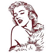 Vinilo Marilyn Monroe Marrón 85x120cm