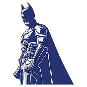 Vinilo Batman Azul oscuro 60x80cm