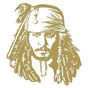 Vinilo Jack Sparrow Dorado 72x80cm