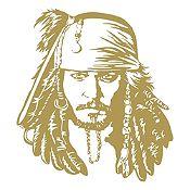 Vinilo Jack Sparrow Dorado 90x100cm