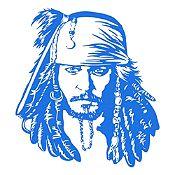 Vinilo Jack Sparrow Azul Medio 90x100cm