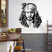 Vinilo Jack Sparrow Turquesa 108x120cm