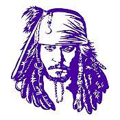 Vinilo Jack Sparrow Morado 108x120cm