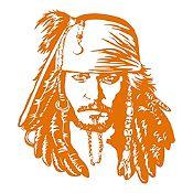 Vinilo Jack Sparrow Naranja 72x80cm