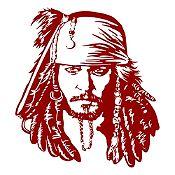 Vinilo Jack Sparrow Vinotinto 108x120cm
