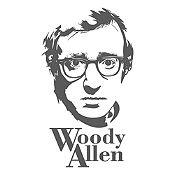 Vinilo Woody Allen Gris Oscuro 46x80cm