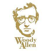 Vinilo Woody Allen Dorado 58x100cm