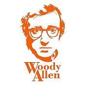 Vinilo Woody Allen Naranja 46x80cm