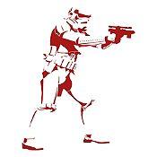 Vinilo Stormtrooper Vinotinto 75x95cm