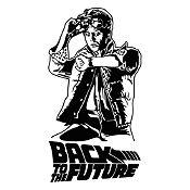 Vinilo Regreso al futuro Negro 64x120cm