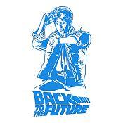 Vinilo Regreso al futuro Azul Claro 75x140cm