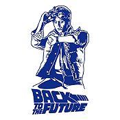 Vinilo Regreso al futuro Azul Oscuro 64x120cm