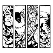 Vinilo Avengers Negro 100x90cm