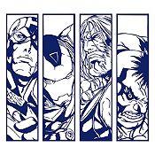 Vinilo Avengers Azul Oscuro 80x72cm