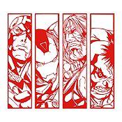 Vinilo Avengers Rojo 80x72cm