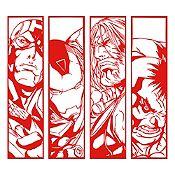 Vinilo Avengers Rojo 100x90cm