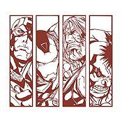 Vinilo Avengers Marrón 100x90cm