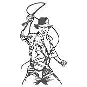 Vinilo Indiana Jones Gris Oscuro 58x105cm