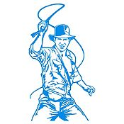 Vinilo Indiana Jones Azul Claro 58x105cm