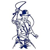 Vinilo Indiana Jones Azul Oscuro 68x120cm