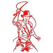 Vinilo Indiana Jones Rojo 50x90cm