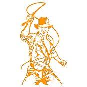 Vinilo Indiana Jones Naranja 50x90cm