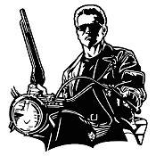 Vinilo Terminator Negro 80x85cm