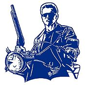 Vinilo Terminator Azul Oscuro 120x127cm