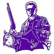 Vinilo Terminator Morado 80x85cm