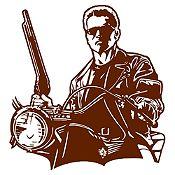 Vinilo Terminator Marrón 80x85cm