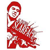 Vinilo Scarface Vinotinto 90x118cm