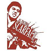 Vinilo Scarface Marrón 90x118cm