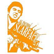 Vinilo Scarface Naranja 60x80cm