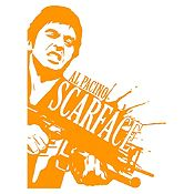Vinilo Scarface Naranja 75x100cm