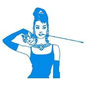 Vinilo Desayuno en Tiffanys Azul Claro 103x90cm