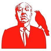 Vinilo Alfred Hitchcock Rojo 94x90cm