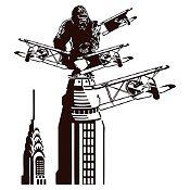 Vinilo King Kong Negro 91x100cm