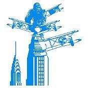 Vinilo King Kong Azul Claro Medida G
